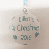 Personalised Baby's 1st Christmas Tree Bauble
